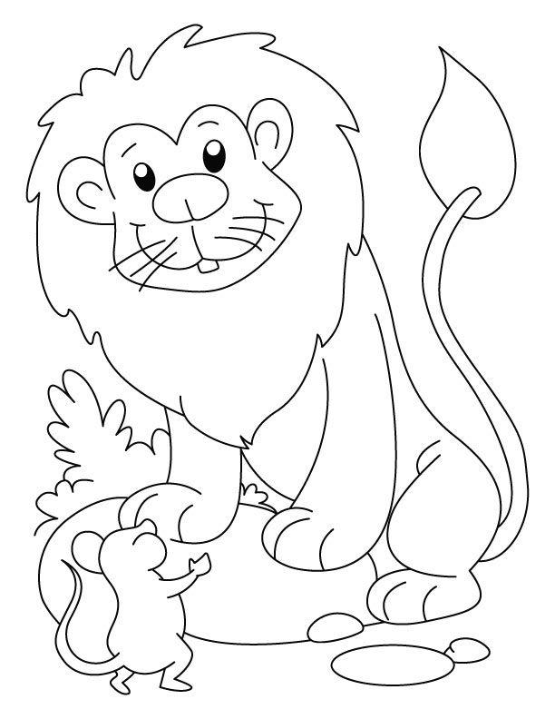 Lion Mouse page Daniel for preschool Preschool Pinterest