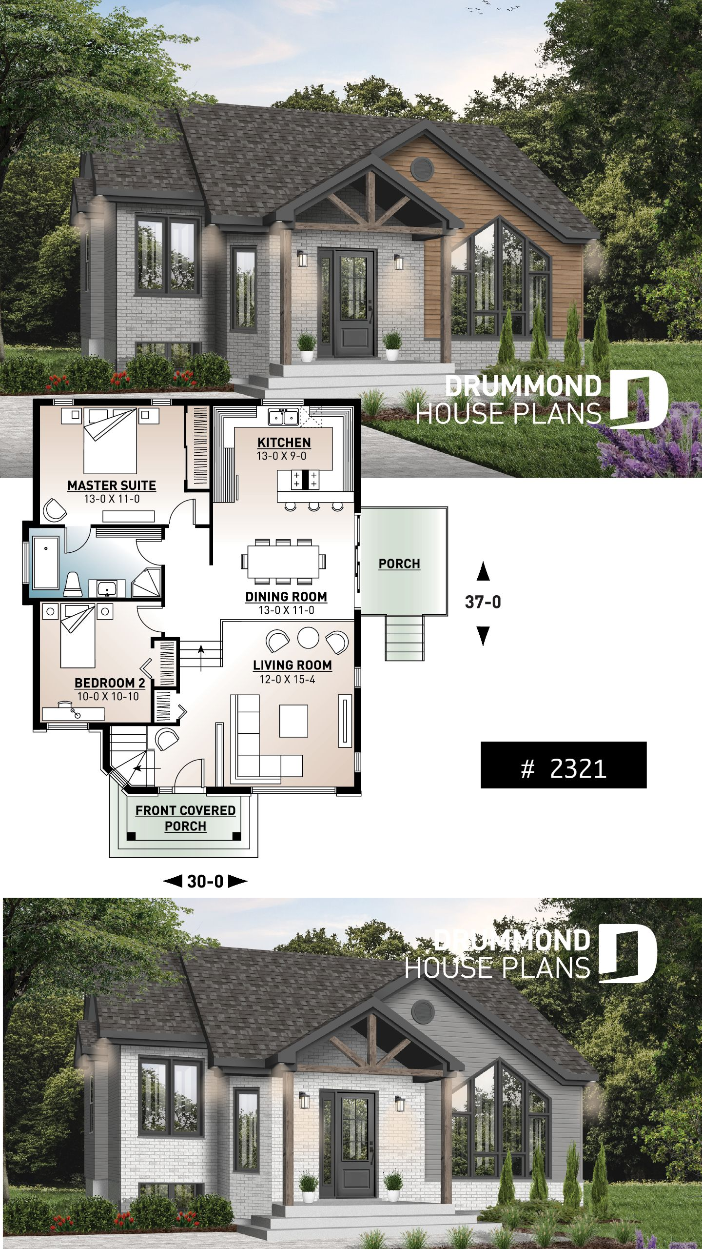 Discover The Plan 2321 Isaie Which Will Please You For Its 2 Bedrooms And For Its Contemporary Styles Sims House Plans House Plans Modern House Plan