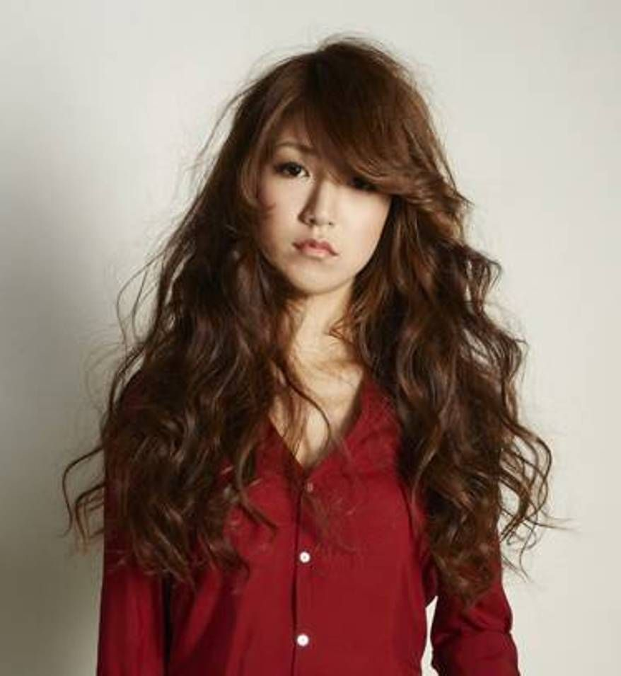 short hair curls korean style asian long curly hairstyles