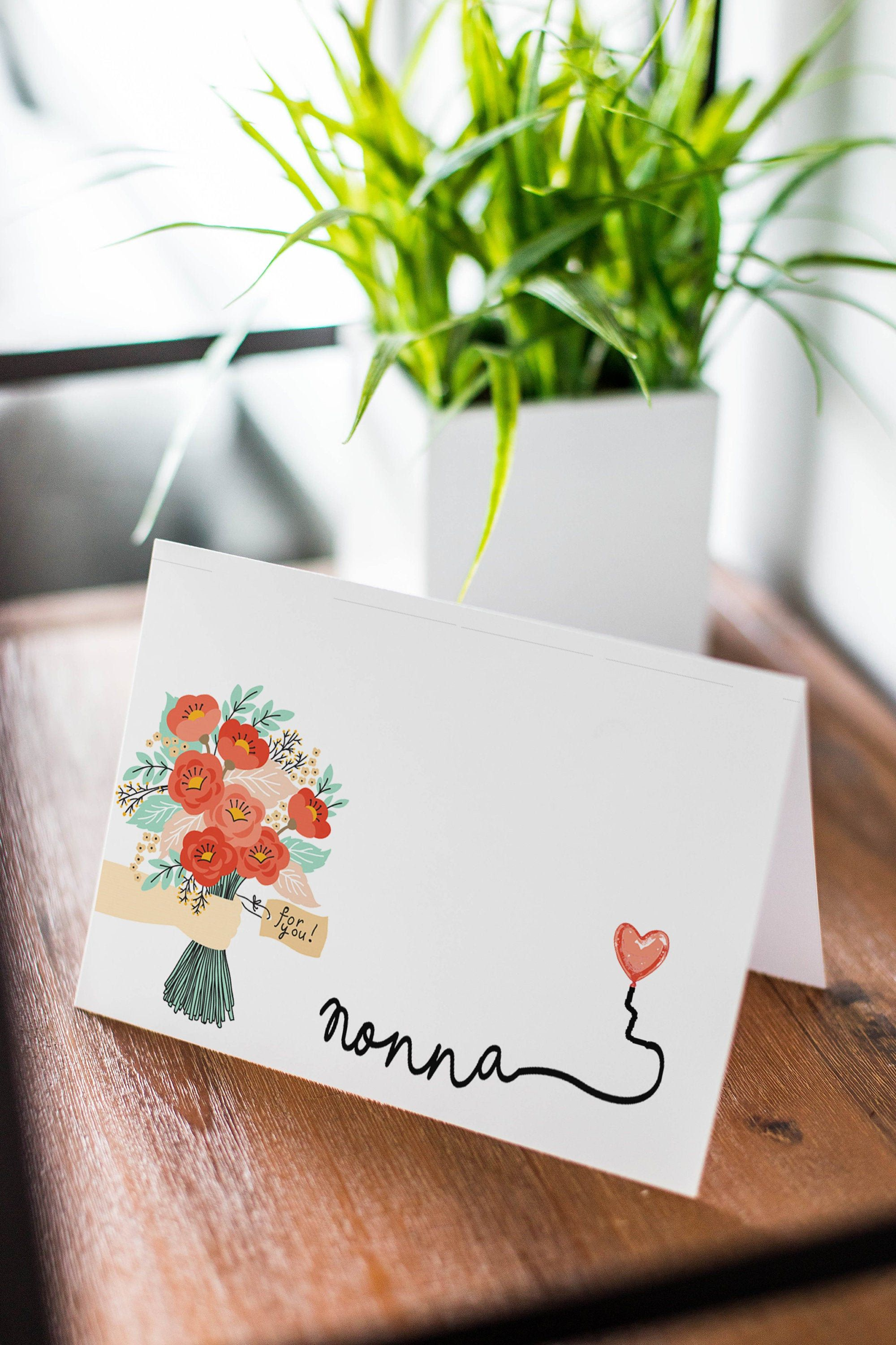Card for nonna birthday card mothers day greeting card
