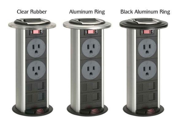 Kitchen Power Grommet Countertop Outlets 2 Power 2 Data