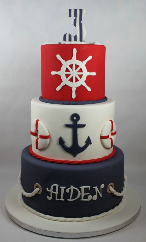 Nautical Birthday Cake Beibi Pinterest Nautical birthday cakes and Nautical cake