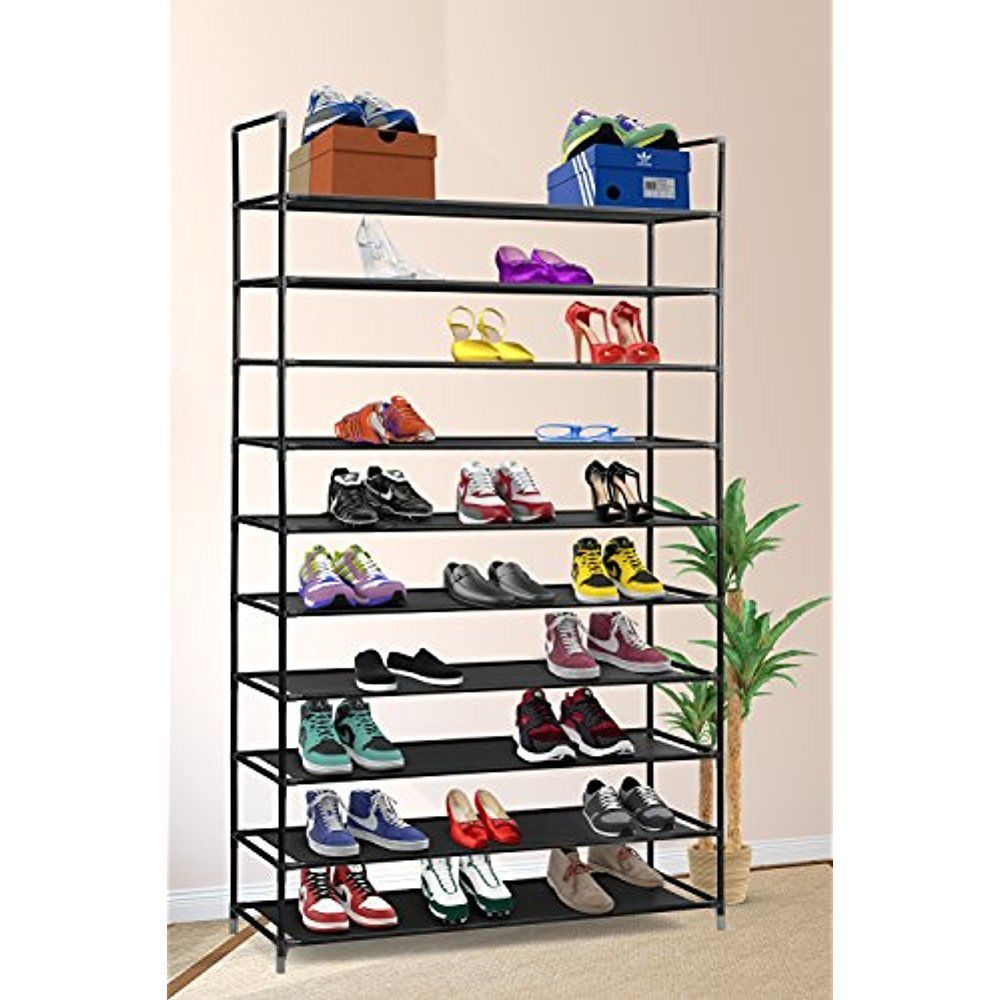 Incroyable Shoe Storage 10 Tier Shoe Rack 50 Pairs Stainless Steel Stackable Shelves  Home #Halter
