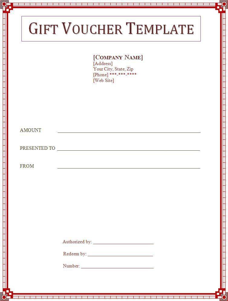 Gift Voucher Template  Free Gift Certificate Template For Word