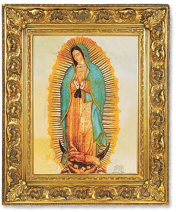 Our Lady Of Guadalupe Linen Finished Framed Print Beautiful