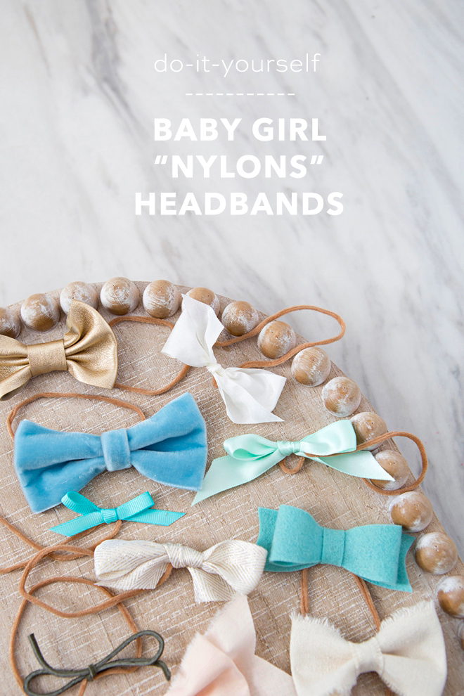 WOW! How To Make Baby Girl Headbands Using Nylons!