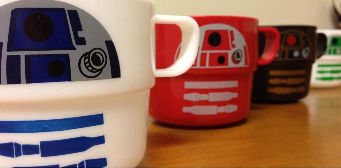 Star Wars Stackable Cups -- R2 Astromechs (Set of 4)