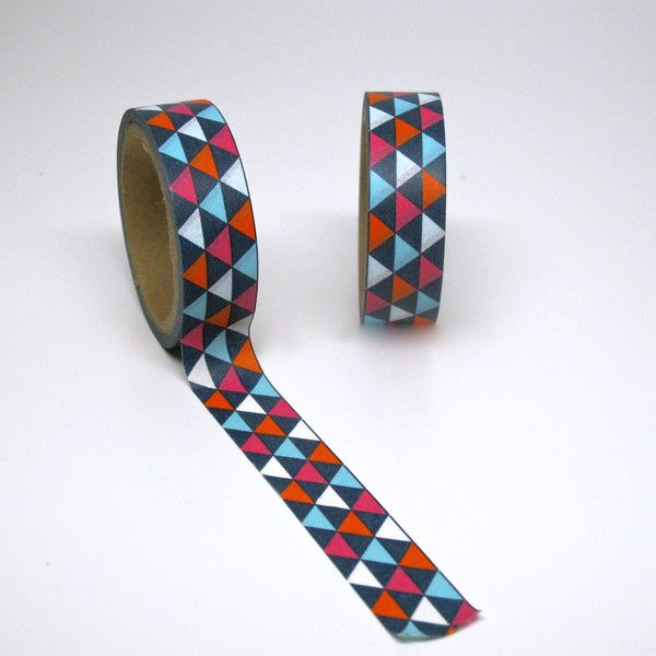 Navy Geometric Triangle Washi Tape. #washi #washitape #modern #partysupplies #partysupply #tape
