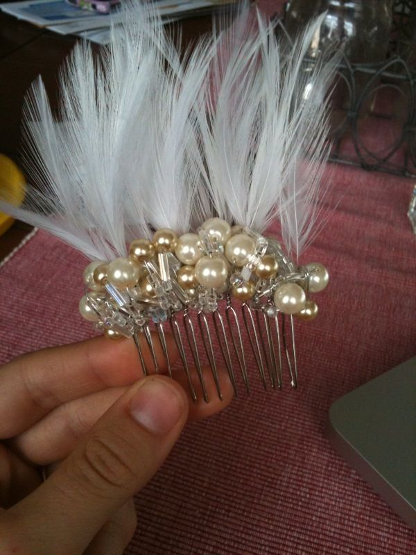 Hair Comb Tutorial Wedding Accessories Diy Houston Photo205