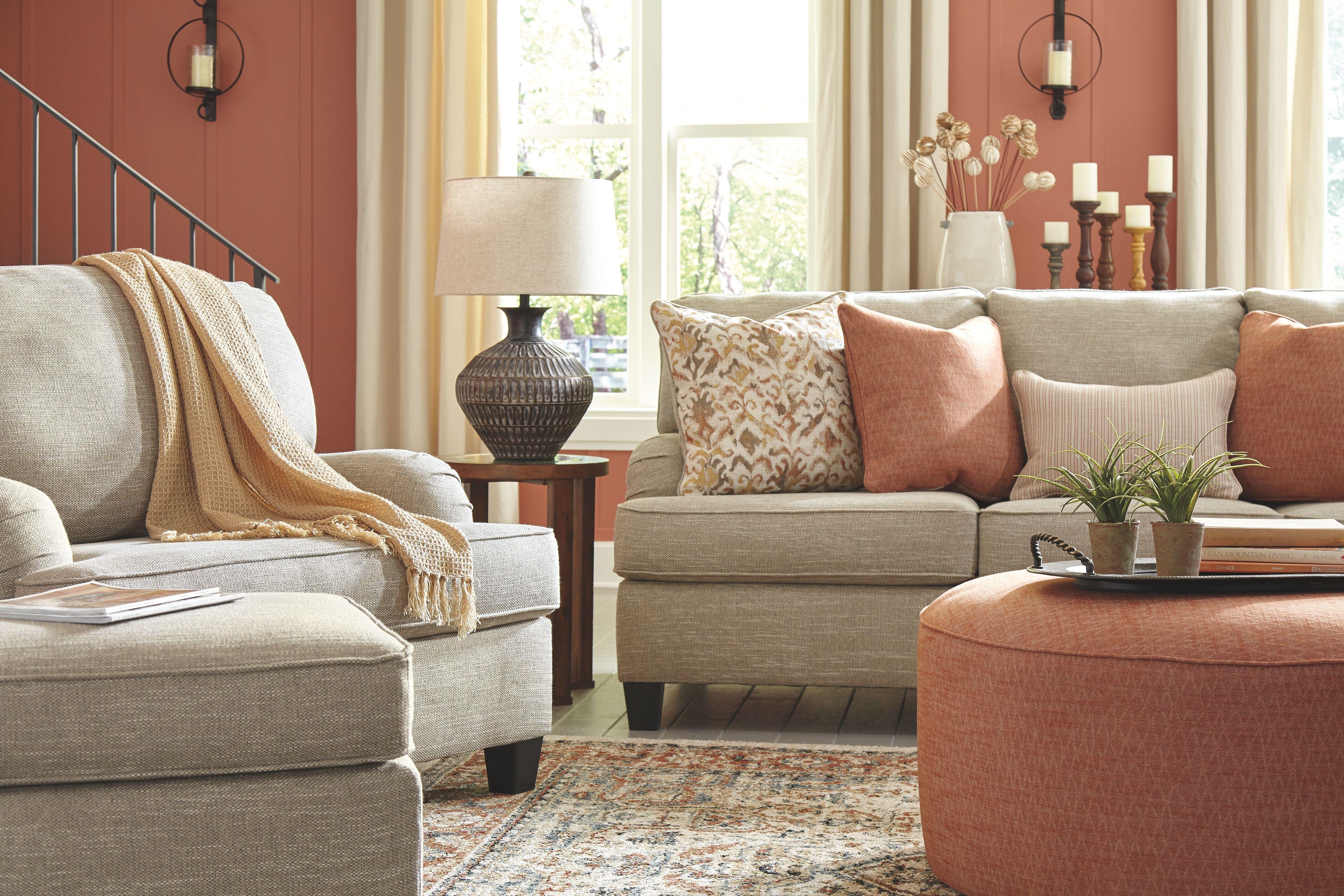 Almanza Oversized Accent Ottoman Ashley Furniture Homestore In 2020 Accent Ottoman Chair And A Half Ottoman #oversized #living #room #chair #with #ottoman