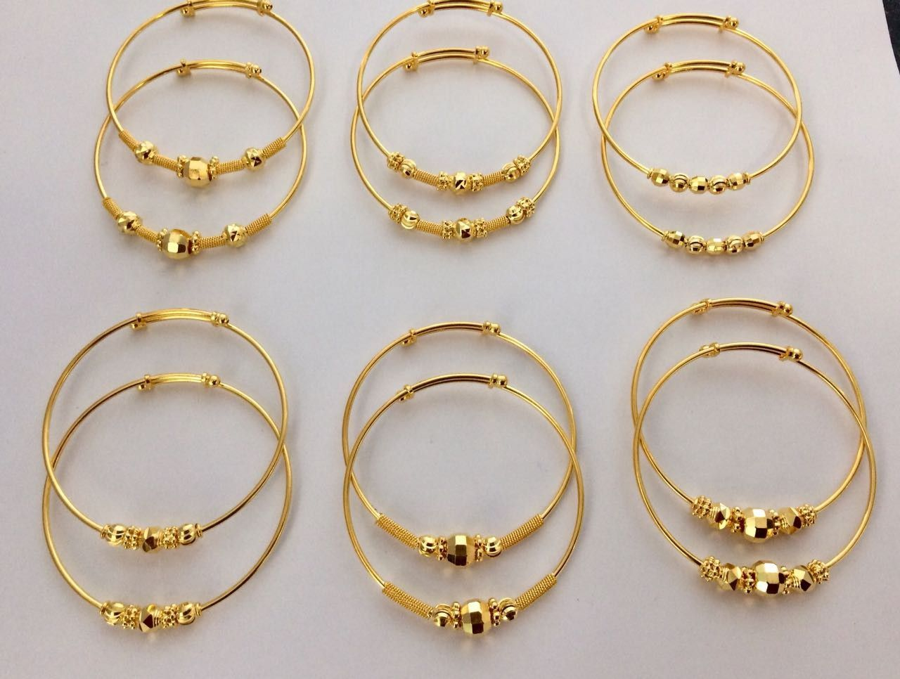 Gold Baby Bangle Lightweight Kids Gold Jewelry Gold Baby