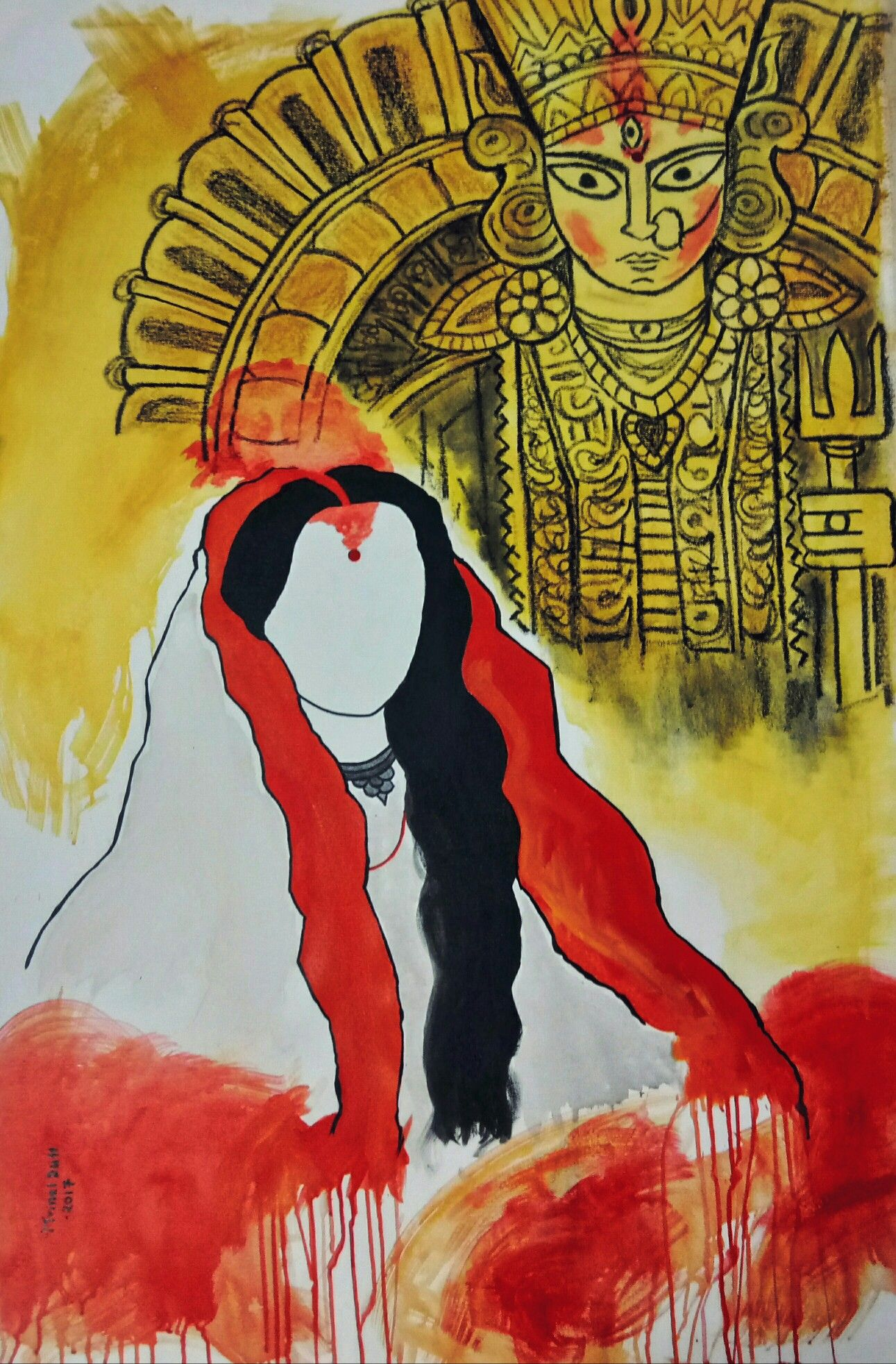 36b871e38 Maa Durga Art by Mrinal Dutt please do like my official page on art https:
