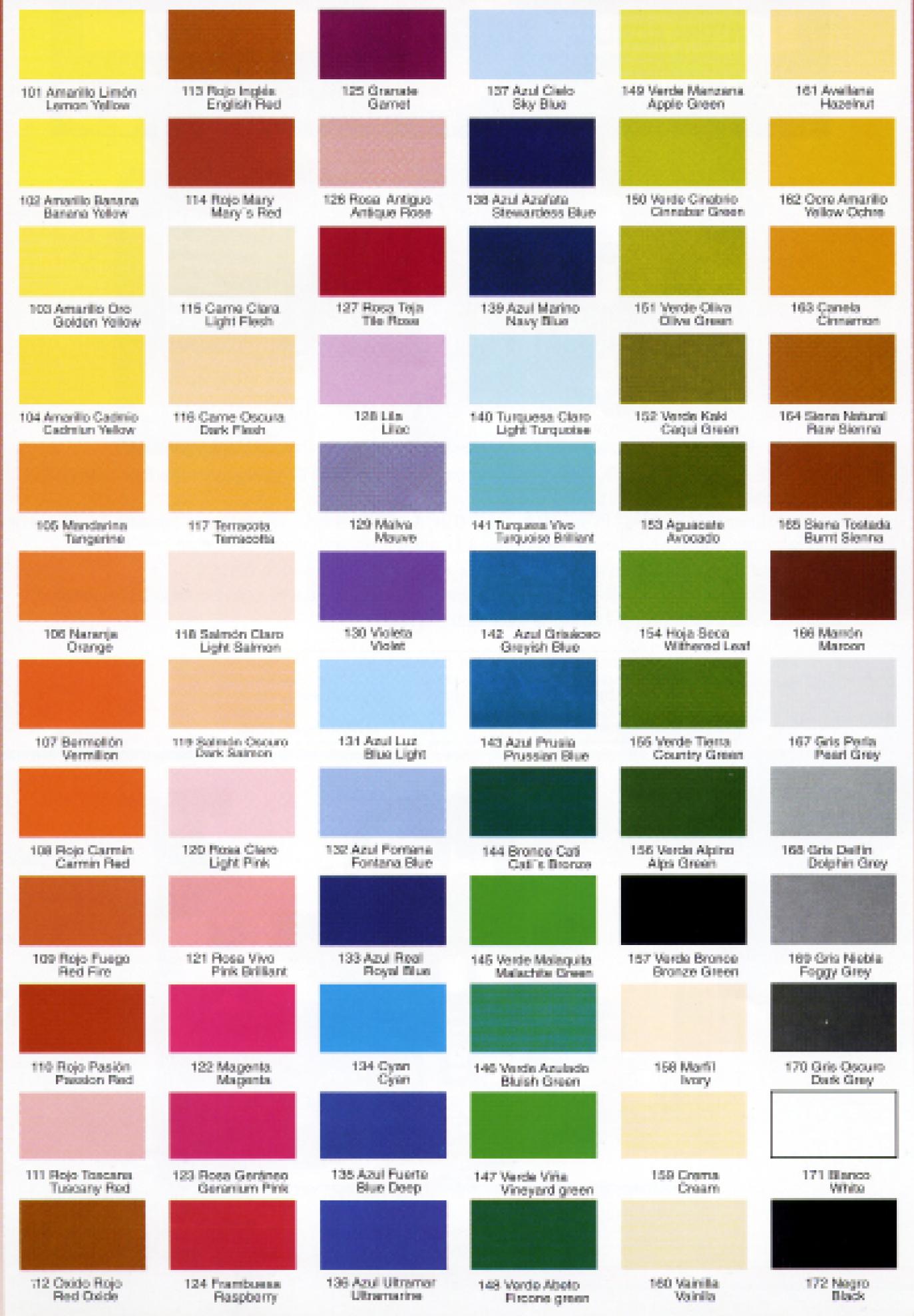 Carta Colores Europea Png 1373 1976 Carta De Colores Carta De Colores Pintura Colores De Pintura Para Exteriores