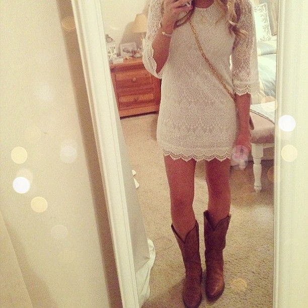 H&M dress, Lucchese boots