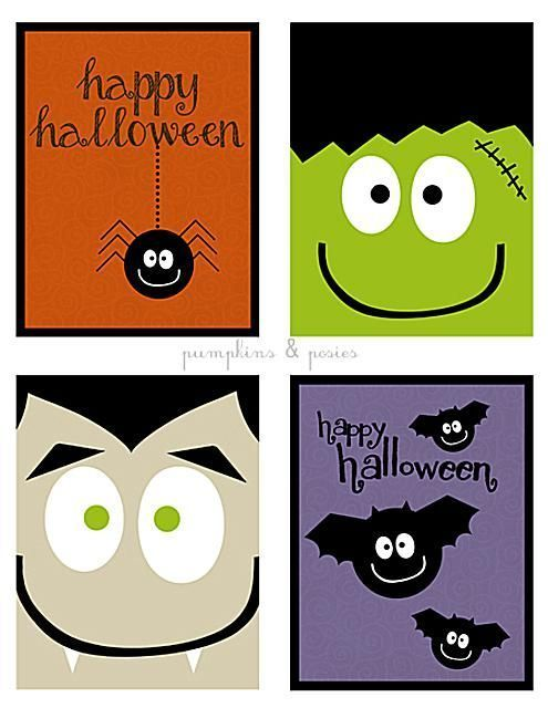 graphic regarding Printable Halloween Cards named Absolutely free, Printable Halloween Greeting Playing cards Preschool