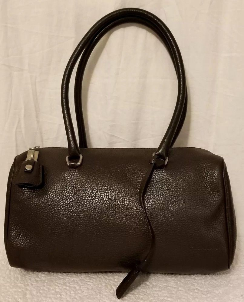 a50c25f6b341 PRADA Brown Leather Satchel Shoulder Bag Lock Key Bowler Vitello Daino  Vintage #money #product #shoulderbag #designer #handbag