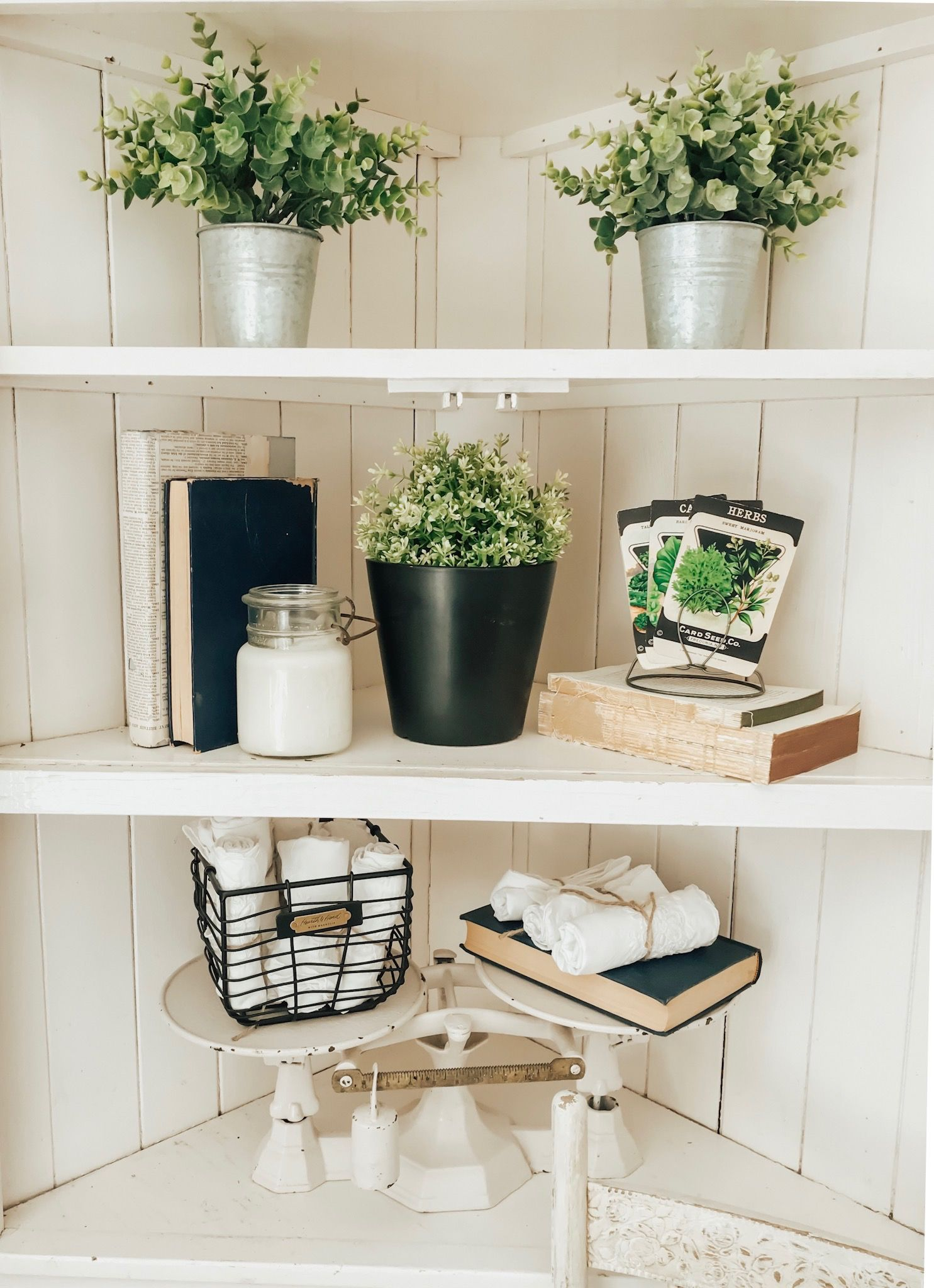 my finds from the old house vintage market with images farmhouse shelves decor shelf decor on kitchen decor ideas farmhouse id=54393