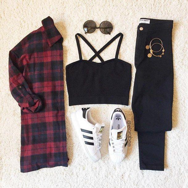 45+ tenues Adidas les plus populaires sur Tumblr pour filles   – anka