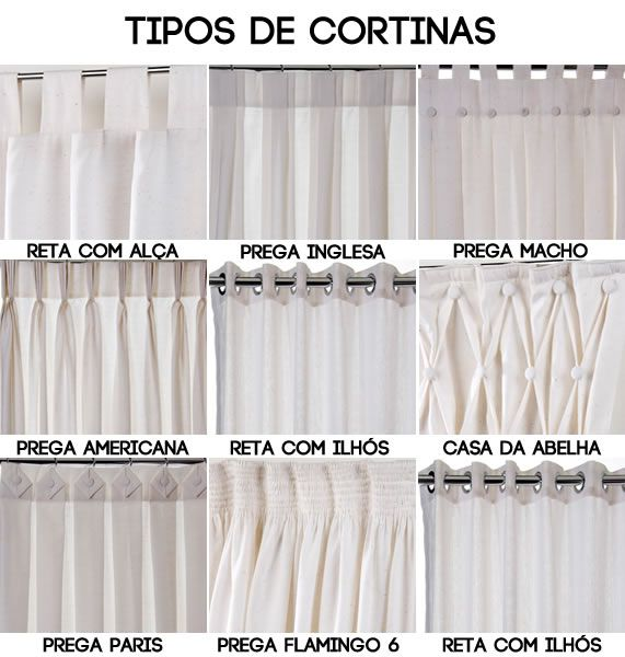 Cortinas tipos pinteres for Tipos de cortinas para salon