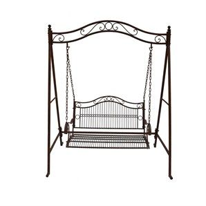 Swing Chair Bunnings Best Massage For The Money Marquee Rustic Iron 2 Seater Warehouse Watches Irons Seat Garden
