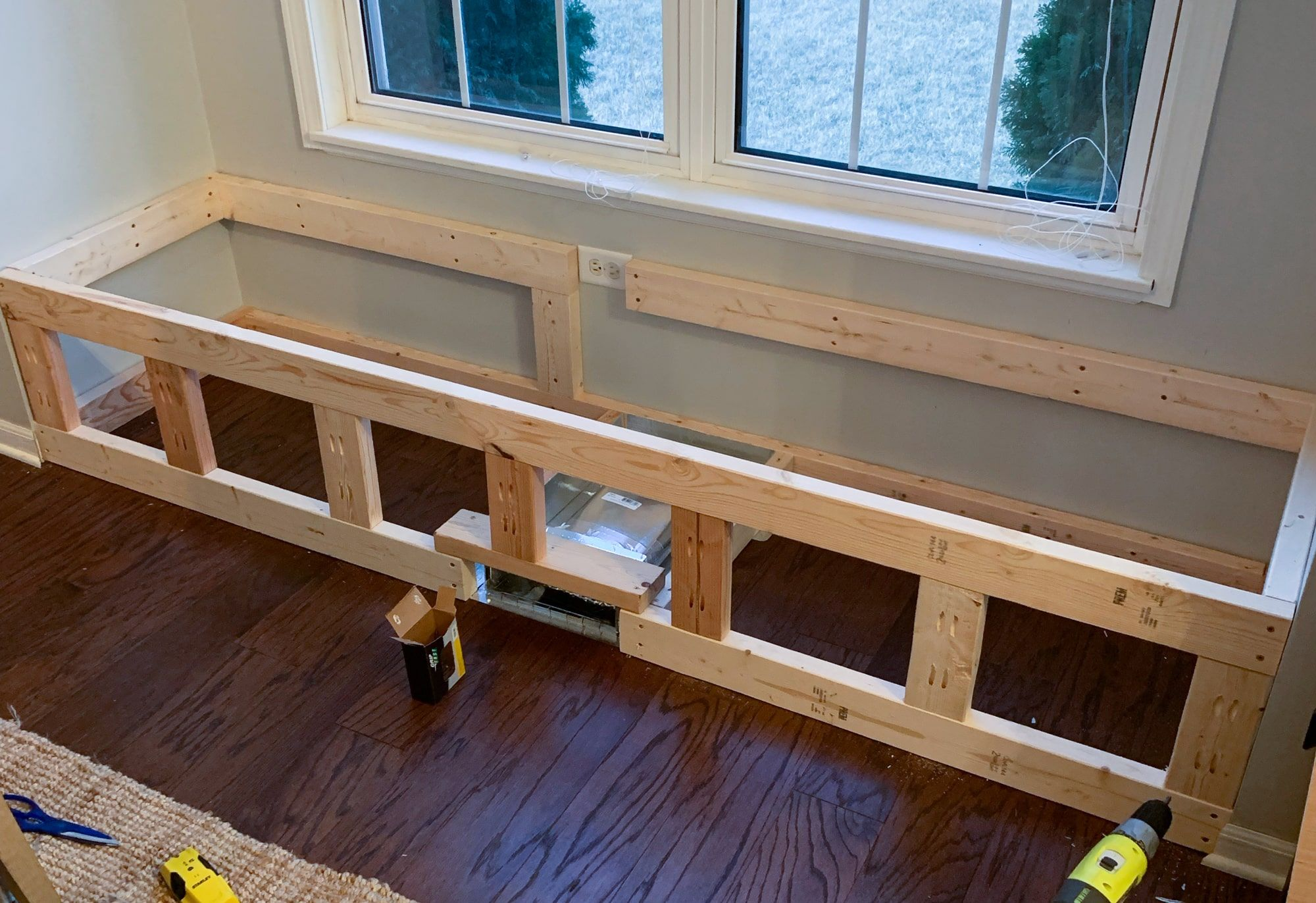How To Build A Window Seat With Hidden Storage In 2020 Diy