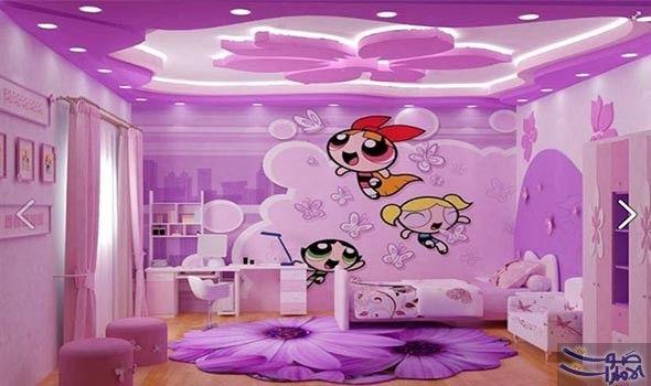 الموف يتألق في غرفة نوم طفلك هذا تهتم أغلب الامهات بمظهر غرف نوم الاطفال لانها ليست مكانا للنوم Bedroom False Ceiling Design Ceiling Design False Ceiling