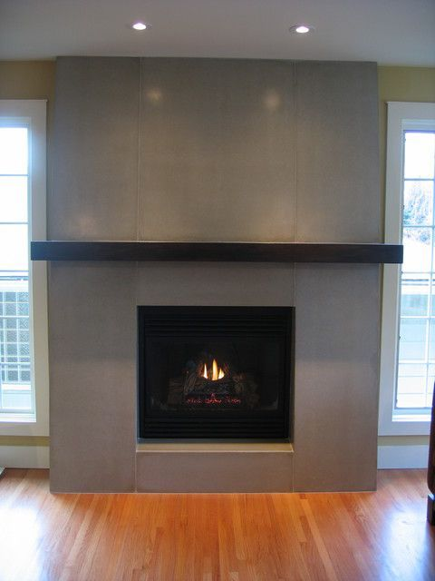 Fireplace Surround Tile Modern Cement Google Search Modern Fireplace Mantles Fireplace Tile Surround Modern Fireplace