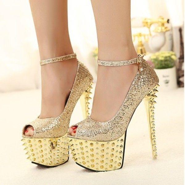 bridal high heels golden sandals trends fashion. Black Bedroom Furniture Sets. Home Design Ideas