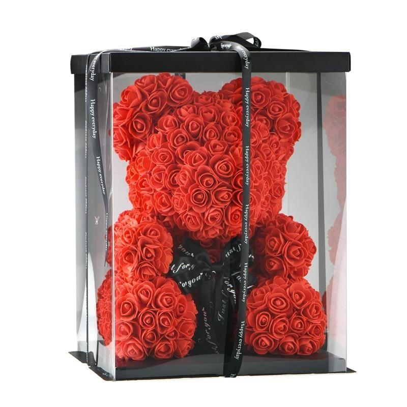 Endless Love Rose Bear W Bow Gift Box Bear Valentines Teddy Bears Valentines Red Teddy Bear