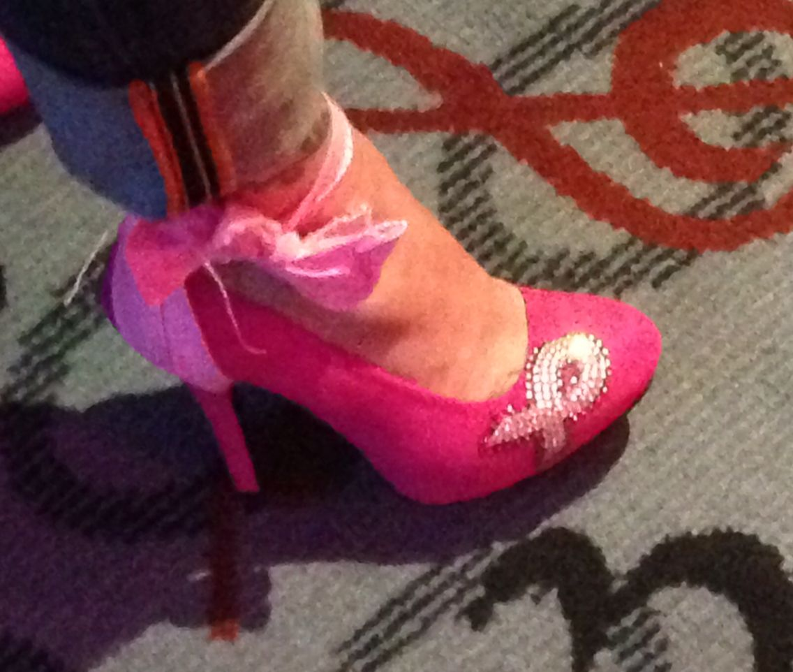 Sexy breast cancer supporter heels DIY