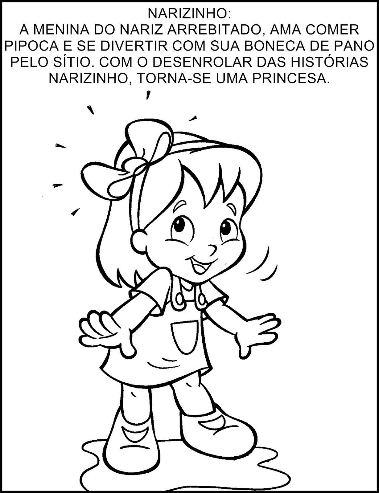 Narizinho Jpg 1229 1600 Personagens De Monteiro Lobato Semana