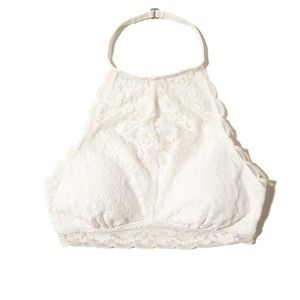 ab9fd563a20 Hollister Lace High-Neck Bralette With Removable Pads