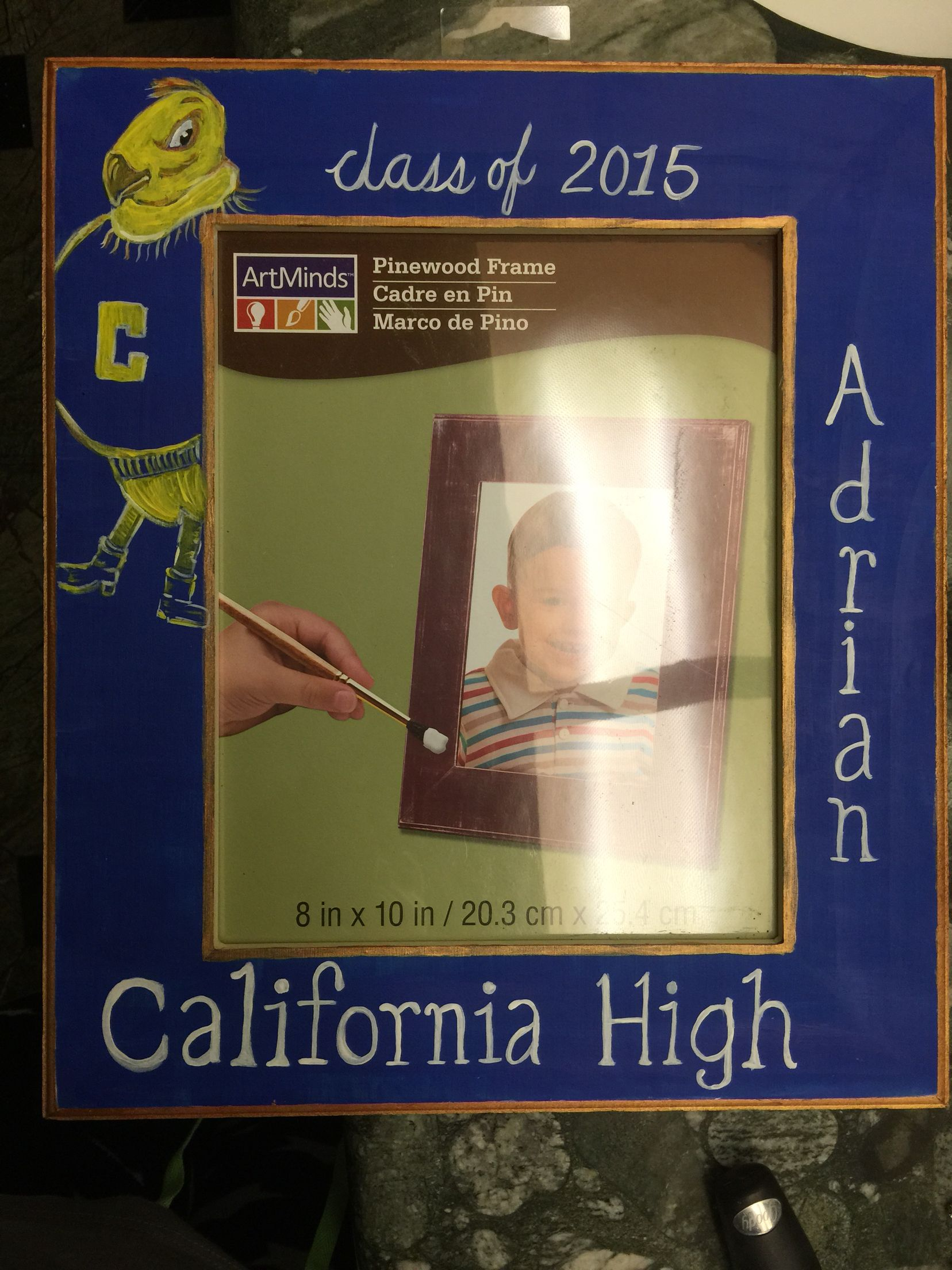 High school memories Wooden frame from michaels Paint and let dry Be ...