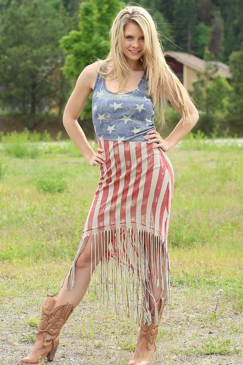 4th Of July Fringe Maxi Dress Clothes Outfit Inspiration Women Fashion Outfits [ 1280 x 853 Pixel ]
