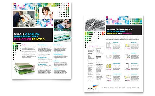 Printing Company Sales Sheet  Design  Sell Sheets