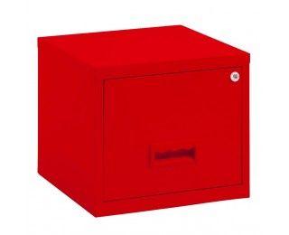 Cube 1 Tiroir Pour Dossiers Suspendus Metal Rouge 60 Ttc Casier Rangement Dossiers Suspendus Caisson Bureau