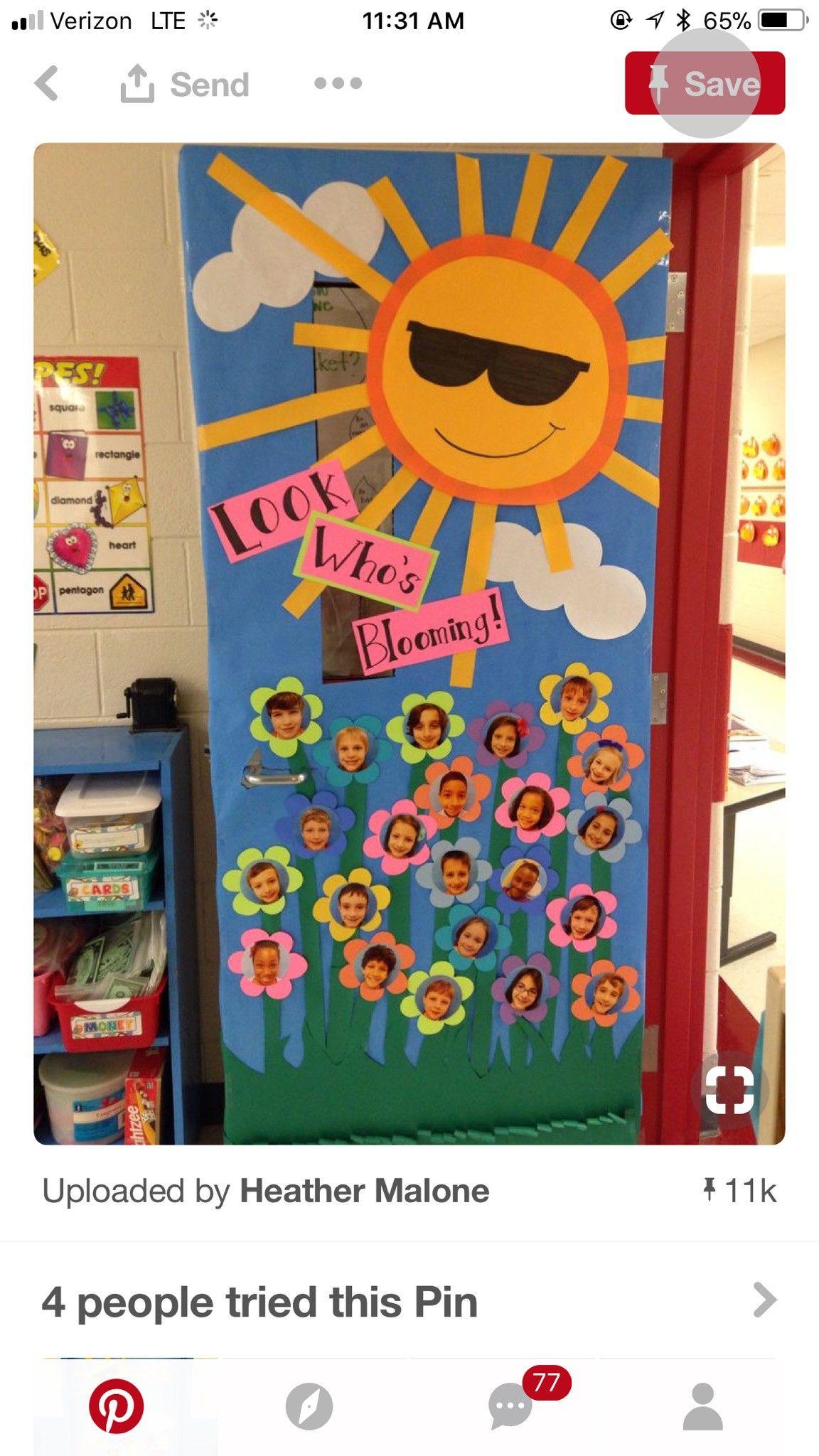Pin By A Stinnett On Door Ideas School Door Decorations Door Decorations Classroom Spring Classroom Door