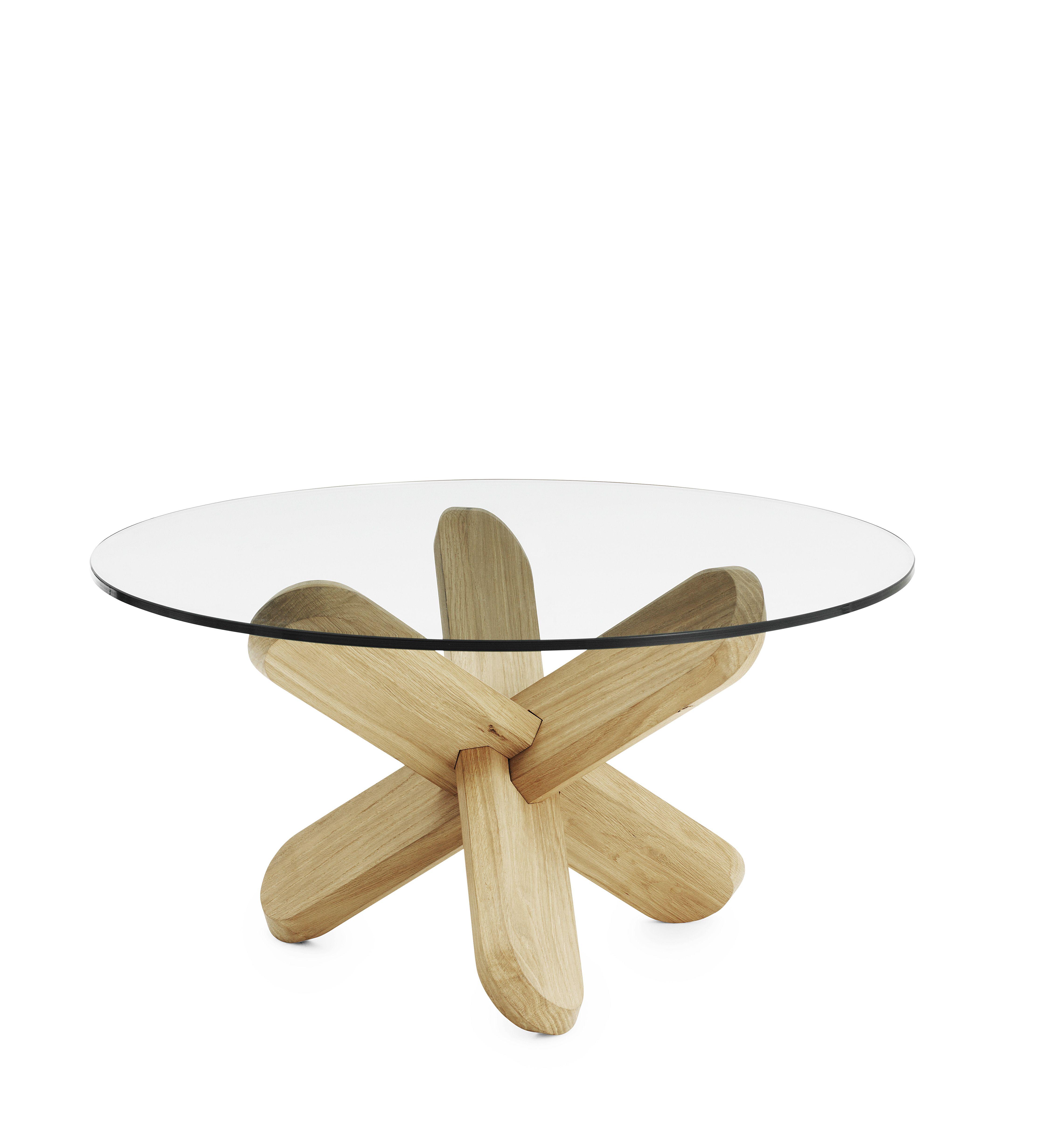 Ding Coffee Table Glass Oak By Normann Copenhagen Normann