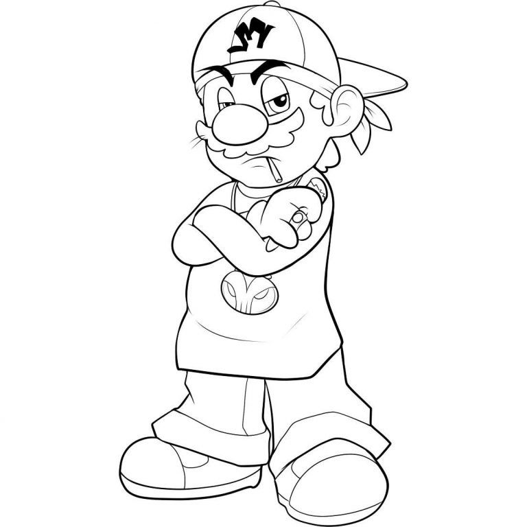 Free Printable Mario Coloring Pages For Kids Easy Cartoon