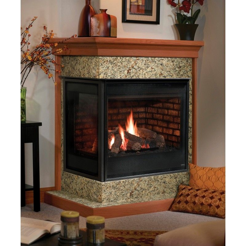 Corner Gas Fireplaces Vented Corner Gas Fireplace | Heatilator | Foyers Au Gaz | Gas
