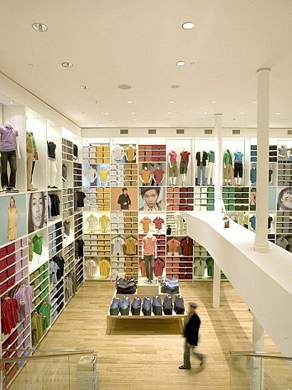 Flagship Uniqlo store, NYC. Architect:  Masamichi Katayama.