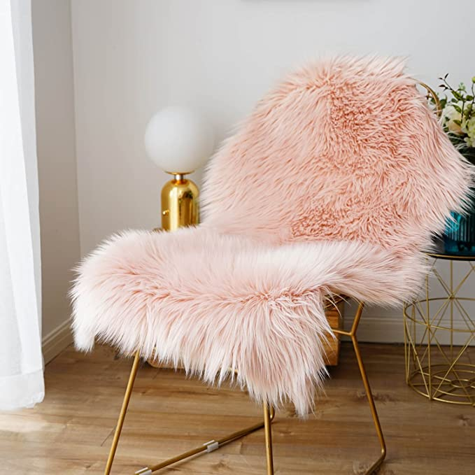 Amazon Com Faux Fur Sheepskin Rug Fluffy Chair Seat Cover Floor Mat Carpet Area Rugs For Living Room 2 Ft X In 2020 Fluffy Chair Rugs In Living Room Sheepskin Rug