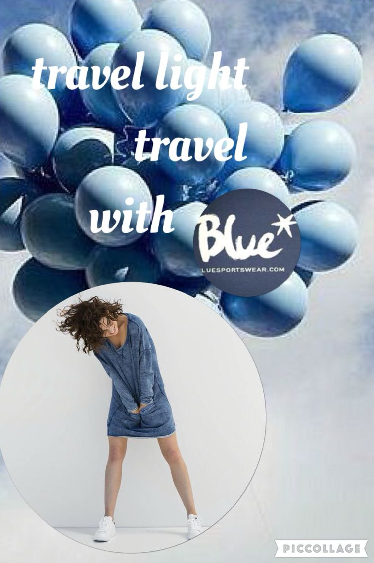 Travel light... travel with Blue www.bluesportswear.nl
