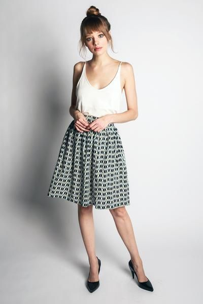 Puffin Print Skirt