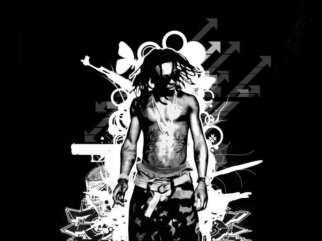 Lil Wayne Black White Wallpaper Music Wallpaper Rapper Art Lil Wayne