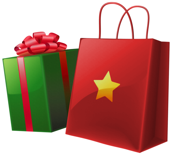 44+ Christmas shopping bags clipart info