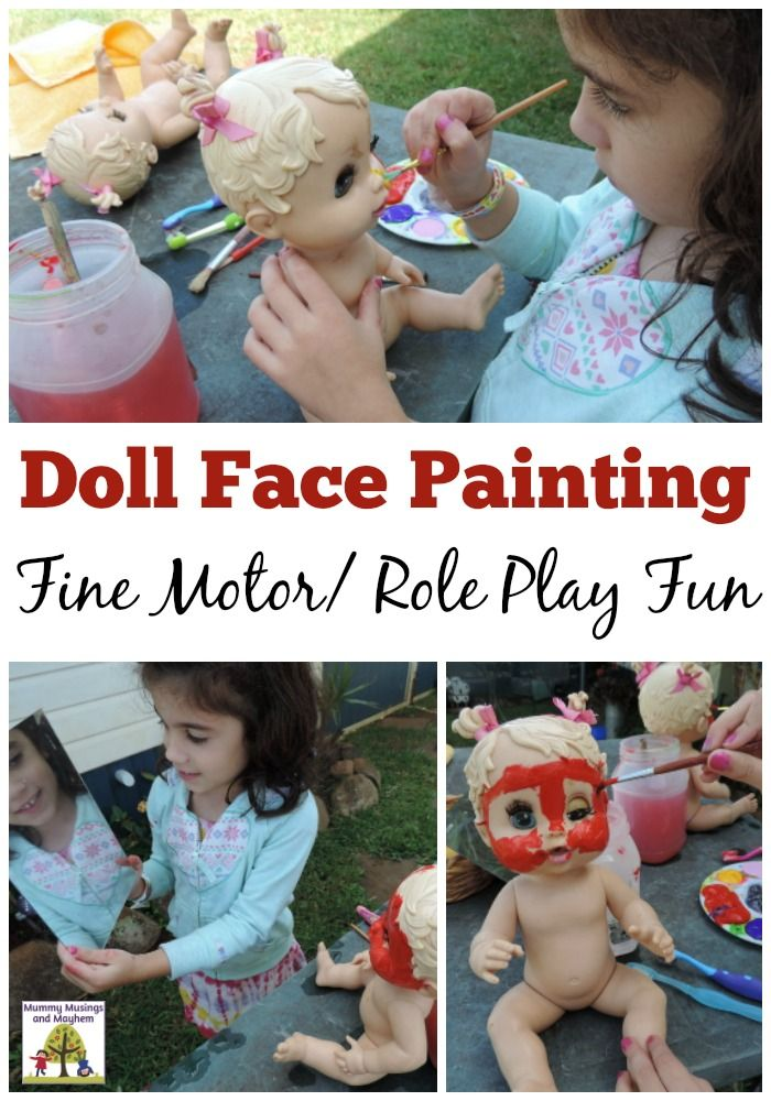 Inviting Imagination into Outdoor Play with Facepainting #creativeartsfor2-3yearolds