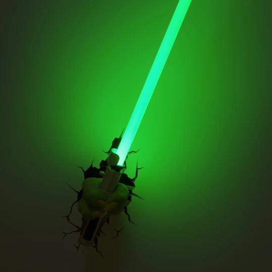 Yoda Hand With Lightsaber Deco Light 3d Deco Light Yoda Lightsaber Star Wars Decor
