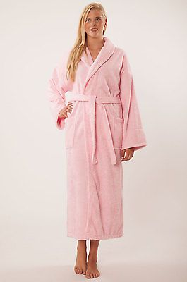 334a8d5abd Bathrobe-100-Turkish-Cotton-Terry-Cloth-Pink-Kimono-Women-Bath-Robe-Adult