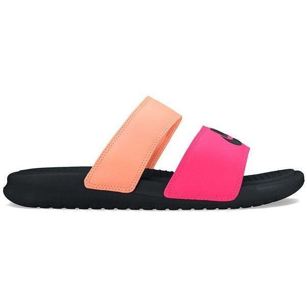 los angeles ea63e d04fe Nike Benassi Duo Ultra Womens Slide Sandals ( 30) liked on Polyvore fea Nike  -